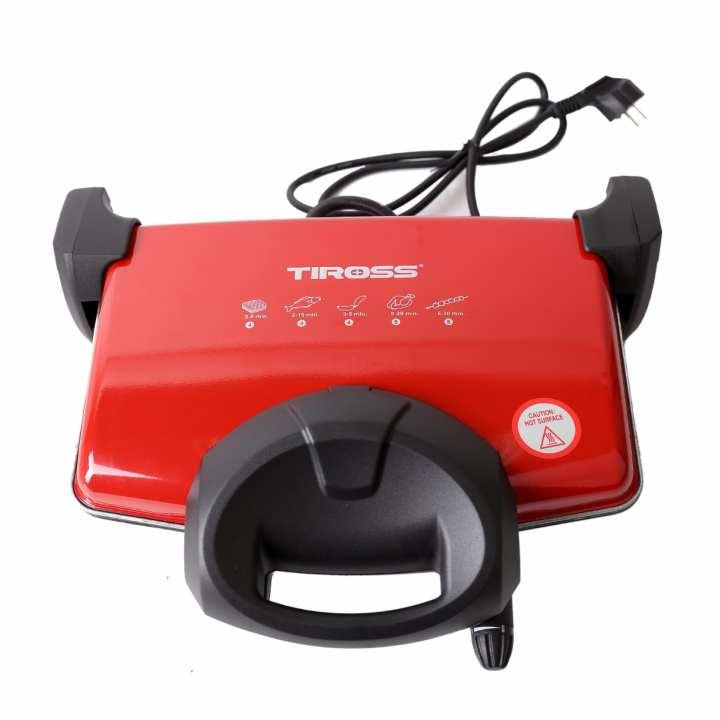Máy nướng kẹp đa năng Tiross TS9653 (Đỏ)
