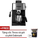 Giá Bán May Pha Ca Phe Espresso 4 Cốc Tiross Ts621 Đen Tặng 1 Cốc Tiross Va 1 Goi Ca Phe Dakmark Mới