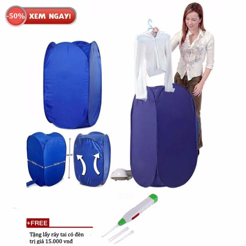 Máy sấy quần áo mini 3in1 diệt khuẩn chống mốc + Tặng lấy ráy tai (Xanh)