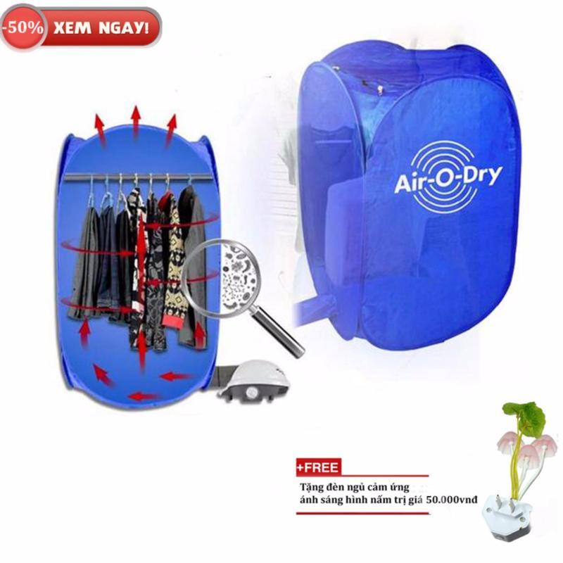 Máy sấy quần áo mini 7kg air o dry + Tặng đèn ngủ cảm biến ánh sáng