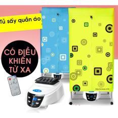 Hình ảnh Máy sấy quần áo có điều khiển (xanh) (chống mùi hôi-khử khuẩn)