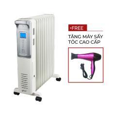 Máy sưởi dầu FujiE OFR4411 ( Tăng giảm nhiệt độ tùy ý)- Quà tăng máy sấy tóc