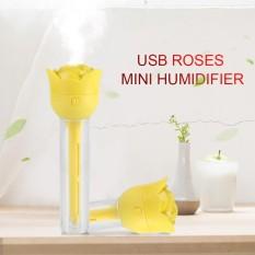 Hình ảnh Mini USB Humidifier Air Diffuser Rose-Shape Purifier Mist Maker Yellow - intl