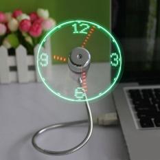 Hình ảnh Mới Bền Có Thể Điều Chỉnh USB Tiện Ích Mini Đèn led Dẻo USB Quạt Đồng Hồ Thời Gian Đồng Hồ Để Bàn Thoáng Mát Tiện Ích Hiển Thị Thời Gian- quốc tế