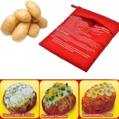 Hình ảnh New Kitchen Cooking Washable Reuseable Bags Microwave Baked Potato Express Bag (Replenishment: 20 From) - intl