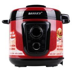 Nồi Ap Suất Điện Sanaky Snk 63C Đỏ Mới Nhất