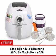 Nồi Chien Chan Khong Đa Năng Magic Korea A71 2 2L Trắng Tặng Hộp Nấu Va Ham Nong Cơm Lồng Inox 3 Tầng Magic Chiết Khấu 30