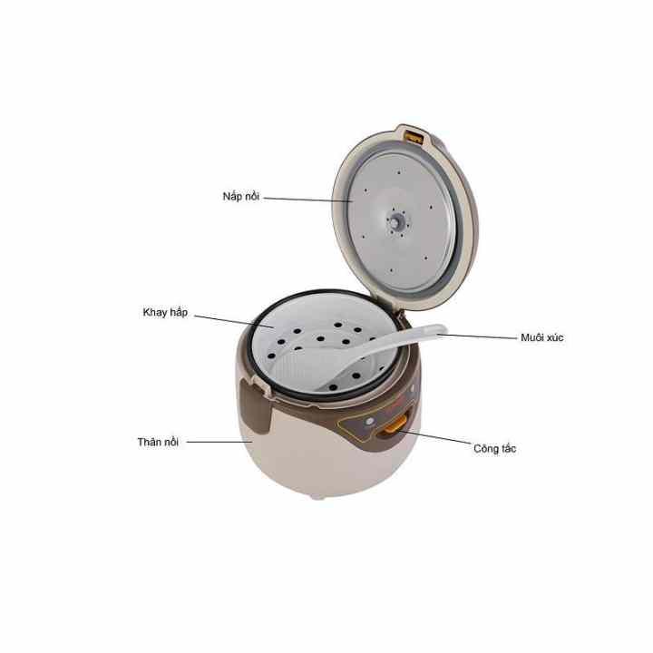 Nồi cơm điện Mini 0.8L CFXB16YB3VN-36 (Trắng nâu)