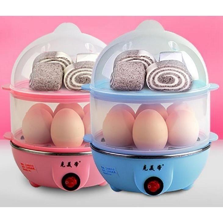 Hình ảnh Nồi luộc trứng và hấp thức ăn siêu tốc 2 tầng