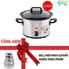 Hình ảnh Nồi nấu chậm Hàn Quốc 2.5 lít BBcooker BS-25 tặng 5 hộp inox có nắp