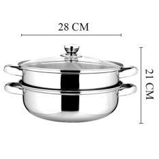 Hình ảnh Nồi xửng hấp kiêm lẩu 28cm dùng được bếp từ