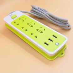 Hình ảnh ổ cắm điện 6 ổ cắm và 3 cổng USB