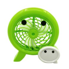 Ôn Tập Portable Home Office Desk Table Wechat Style Mini Usb Rechargeable Cooling Fan Green