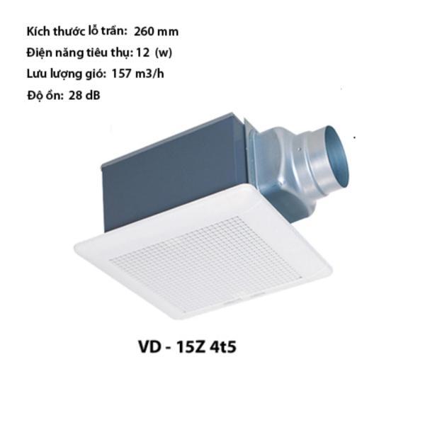 Quạt âm trần nối ống gió Mitsubishi VD-15Z4T5 (Mã mới VD-15Z4T6)