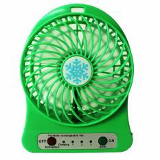 Hình ảnh Quạt Sạc Để Bàn USB Mini Fan (Xanh Lá)