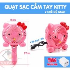 Bán Quạt Sạc Mini Kitty Cầm Tay Va Để Ban Trực Tuyến Hồ Chí Minh
