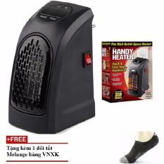 Quạt sưởi ấm Handy Heater hẹn giờ nhỏ gọn, làm ấm nhanh(đen) +Tặng tất nam hàng việt nam xuất khẩu