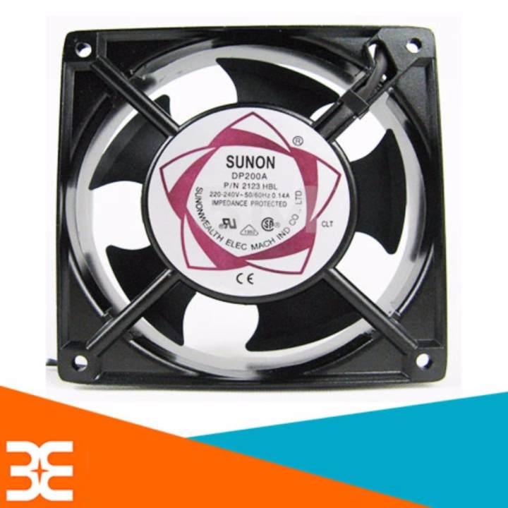 [Tp.HCM] Quạt thông gió, hút mùi, tản nhiệt Mini Sunon 220V 12x12x3,8Cm