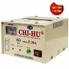 Hình ảnh Relay (Ổn áp) bảo vệ tủ lạnh cao cấp CHI-HU 30A ( trắng )
