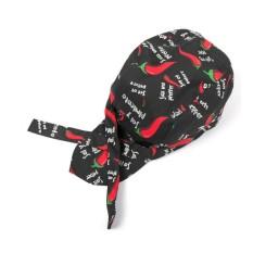 Hình ảnh Simple Style Unisex Chef Waiter Work Cap Pirate Hat Turban Cap - intl