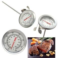 Hình ảnh Đồng hồ nam Dây Thép Không Gỉ Bếp Nướng BBQ Đầu Đo Nhiệt Kế Thực Phẩm Thịt Đo 200 °C-quốc tế