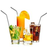 Stainless Steel Straws Reusable Silver - intl