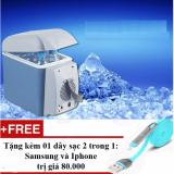 Bán Tủ Lạnh Mini 12V Tren O To Với Dung Tich 6Lit Nước Xanh Tặng 01 Day Sạc Điện Thoại 2 Trong 1 Cho Iphone Va Samsung Trắng Oem Có Thương Hiệu