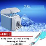 Tủ Lạnh Mini 12V Tren O To Với Dung Tich 7 5Lit Nước Tặng 01 Day Sạc Điện Thoại 2 Trong 1 Cho Iphone Va Samsung Oem Chiết Khấu 30
