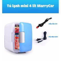 Tủ lạnh mini 2 chế độ nóng lạnh 4 lít MarryCar MR-TL4L cho gia đình và ô tô