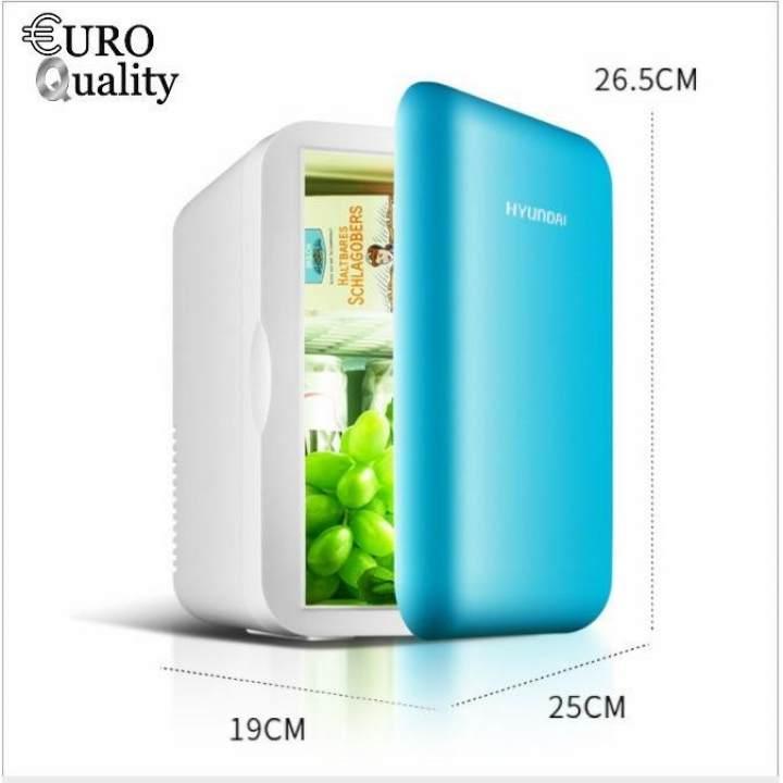 Tủ lạnh mini trên ô tô 6 lít Hyundai nguồn 12v/ 220v (Sử dụng được tại nhà và trên ô tô)