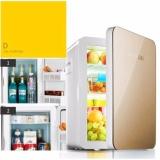 Tủ Lạnh Mini Hyundai 12v/220v (Màu vàng Gold) - Hàng nhập khẩu