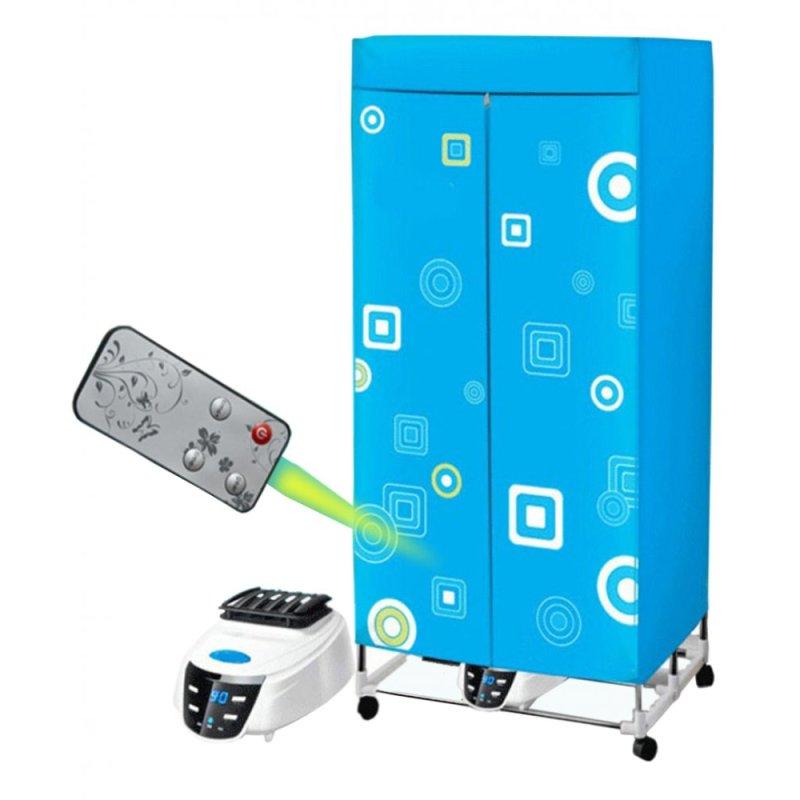 Tủ sấy quần áo khung gập có điều khiển từ xa EROSS ER-CD016 (Xanh)