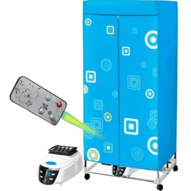 Tủ sấy quần áo Tiết kiệm 50% điện năng, khung inox, 2 tầng, điều khiển từ xa - Kmart