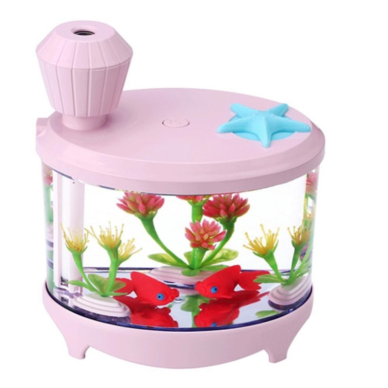 Bảng giá USB Aquarium Shaped Luminous Humidifier Air Cleaner Aroma Diffuser(Pink) - intl