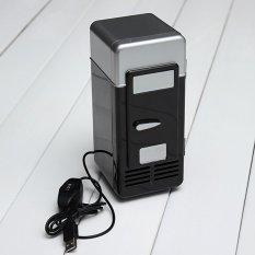 Hình ảnh Sử Dụng Nguồn Điện USB Tủ Lạnh Mini Một Chai Có Thể Làm Mát Ấm Tủ Lạnh Màu Đen (Quốc Tế)