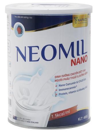 Sữa bột dinh dưỡng Neomil Nano 400g (Chuyên dùng cho người sau phẫu thuật, sau sinh giúp mau lành, giảm sẹo lồi ...)