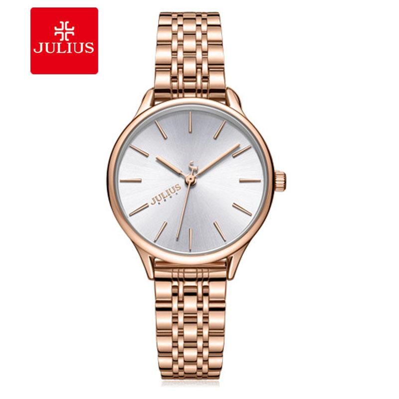 Đồng hồ nữ Julius JA-1298 dây thép 4 màu thời thượng