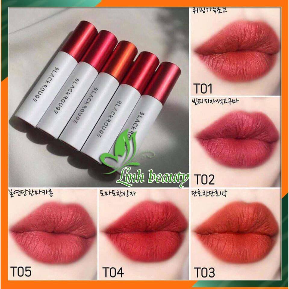 Son Black Rouge Cotton Lip Color Trắng