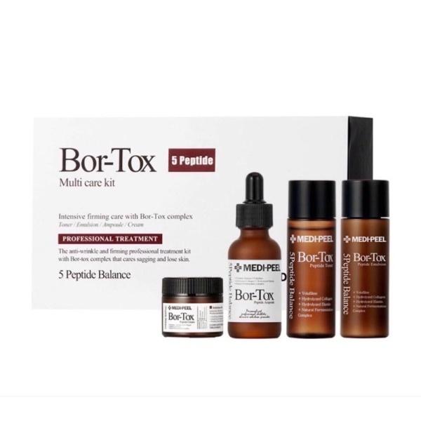 (Màu Nâu)Bộ sản phẩm Trắng Da , chống lão hóa, giảm nám Medi peel Bio Intenes Gluthione 600 White Ampoule(Sét 4 món) cao cấp