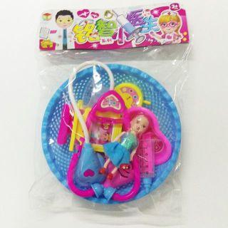 Đồ chơi tập làm bác sĩ nhập vai cho trẻ nhỏ - bộ đồ chơi bác sĩ cho bé có rỗ kèm búp bê khám bệnh tiện dụng đồ chơi phát triển trí tuệ khác đồ chơi nhập vai quà tặng bé yêu thích đồ chơi y tế - đồ chơi nhập vai thumbnail
