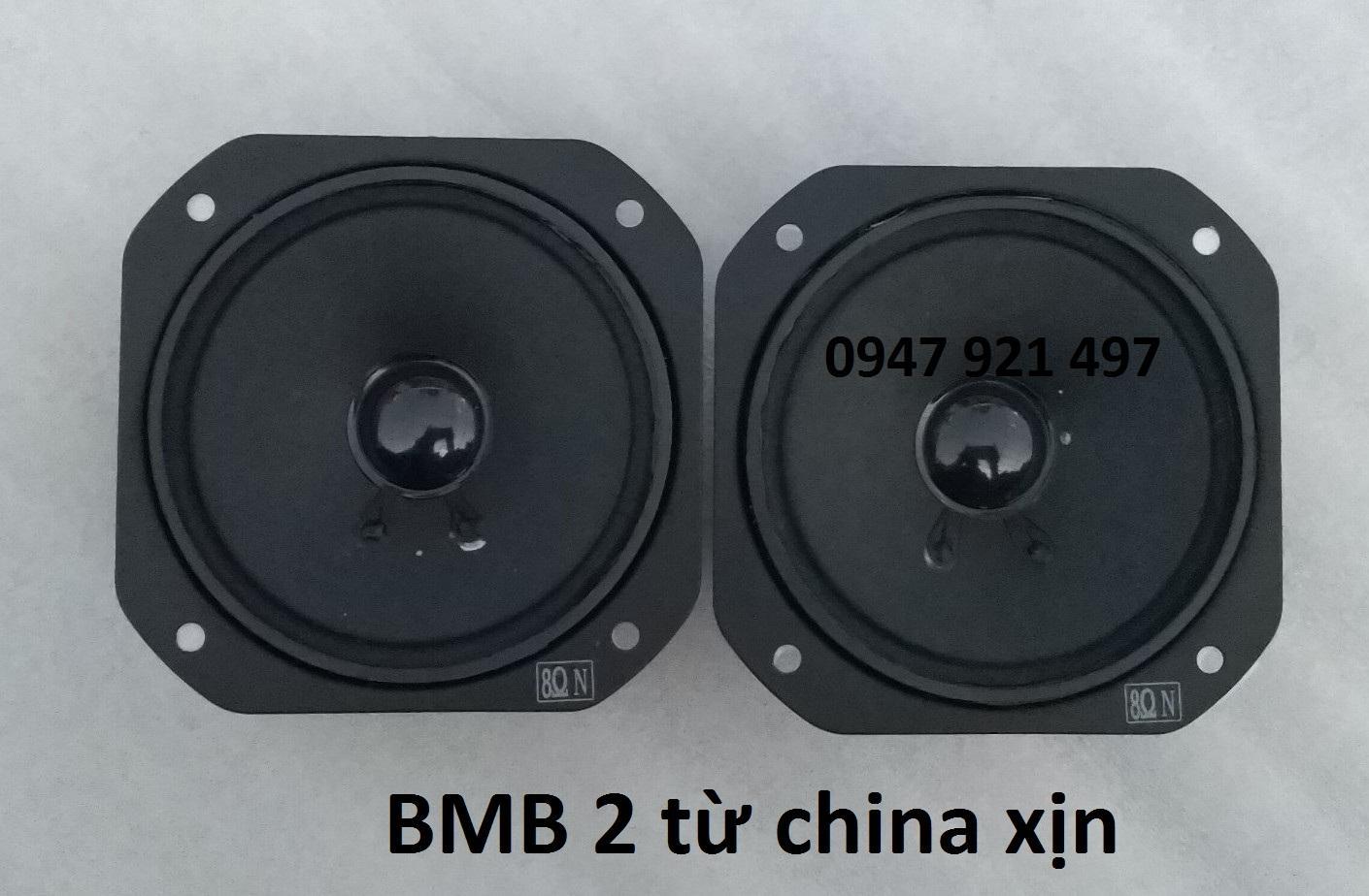 COMBO 2 LOA TREBLE BMB VUÔNG 2 TỪ 10CM  HÀNG CHINA CAO CẤP KÈM TỤ 1.5MF 250V