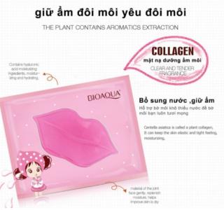 Combo 1 miếng Mặt nạ dưỡng môi BIOAQUA giúp môi hồng tự nhiên, mềm mịn thumbnail