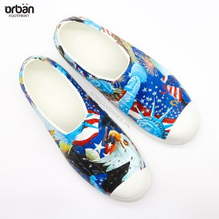 [New 2021] Giày nhựa đi mưa URBAN - Màu Cờ Mỹ thumbnail