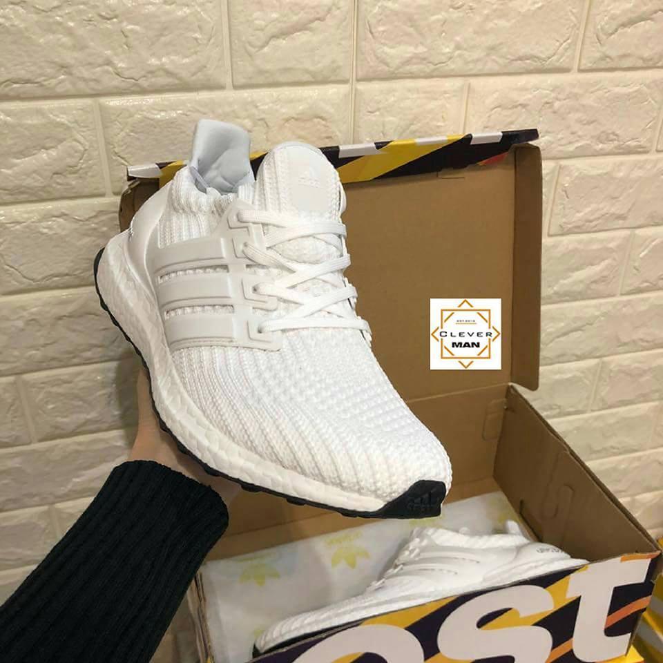 (ẢNH THẬT) Giày thể thao ULTRA BOOST 4.0 white trắng đế đen