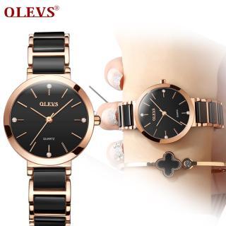Đồng hồ nữ thanh lịch bằng gốm kiểu pháp thiết kế nữ tính đơn giản OLEVS thumbnail