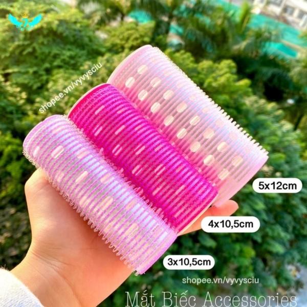 (SẴN)Lô cuốn tóc Hàn Quốc lõi nhôm 12cm siêu to dài tự dính uốn mái dài cỡ lớn Curling Roller YIDA