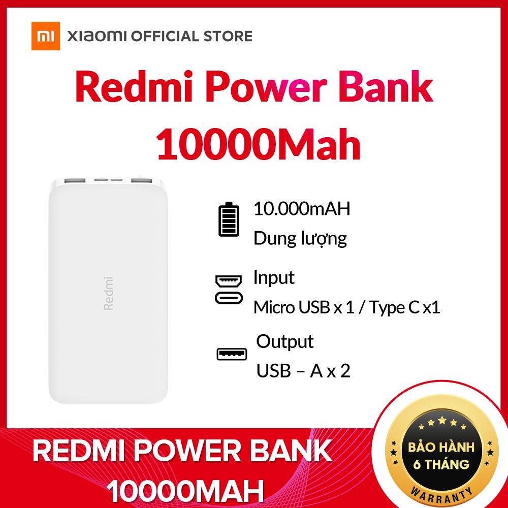 [XIAOMI OFFICIAL] Pin Sạc Dự Phòng Xiaomi Redmi Power Bank 10000 mAh - Hàng Chính Hãng - BH 6 Tháng