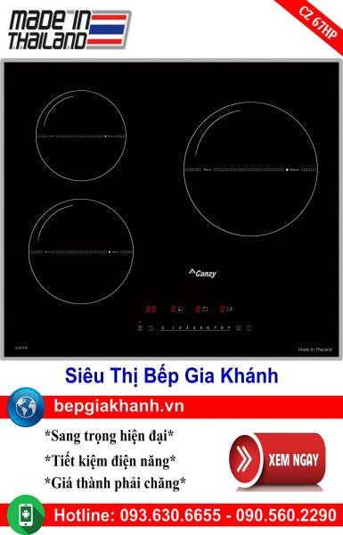 Bếp từ 3 vùng nấu Canzy CZ 67HP nhập khẩu Thái Lan, bếp từ, bếp điện từ, bếp từ đôi, bếp điện từ đôi, bếp từ giá rẻ, bếp điện từ giá rẻ, bếp từ đơn, bep tu don, bep tu