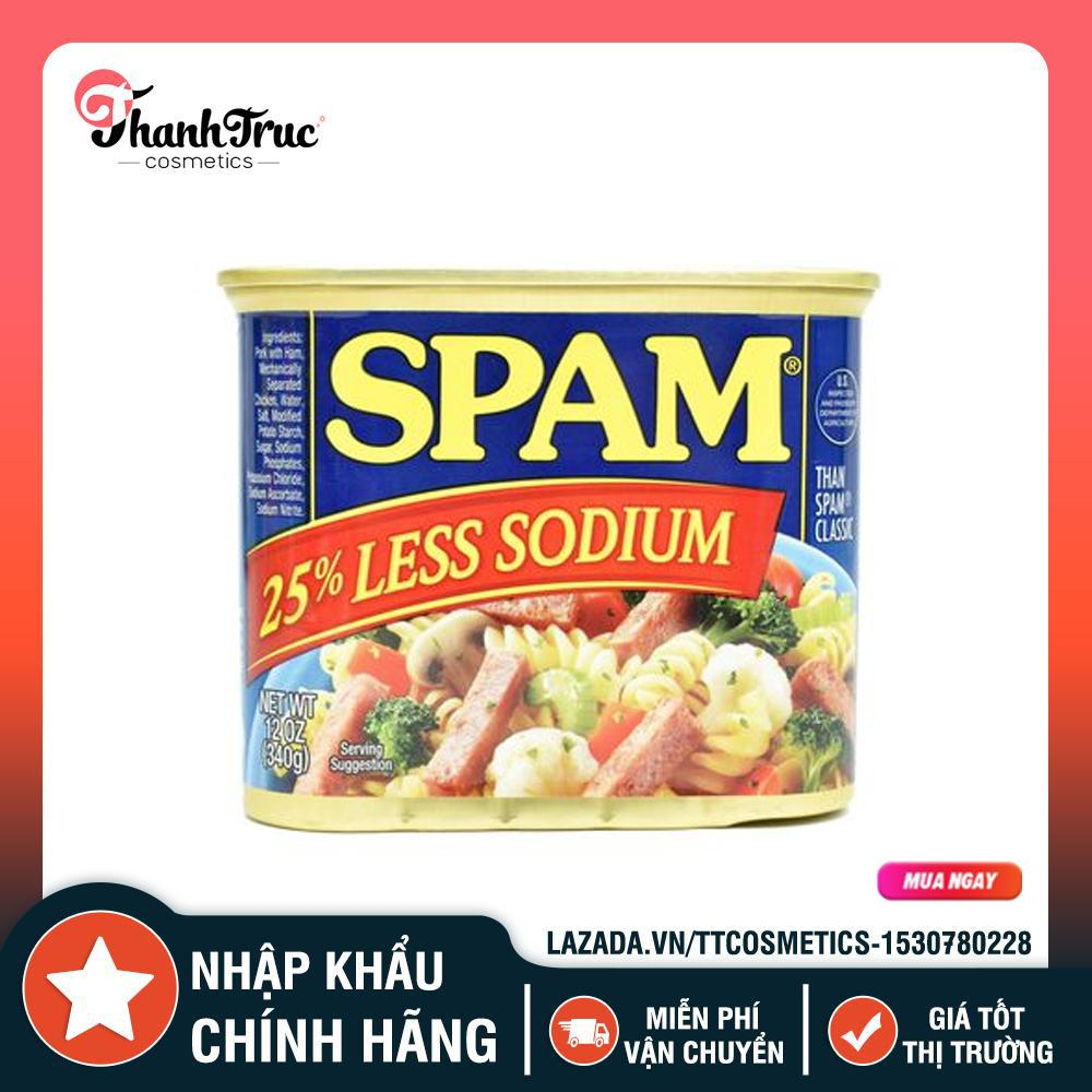 Giá Quá Tốt Để Mua Thịt Nguội Đóng Hộp SPAM ÍT MẶN 25% Hộp Lớn 340g - Nhập Khẩu Mỹ