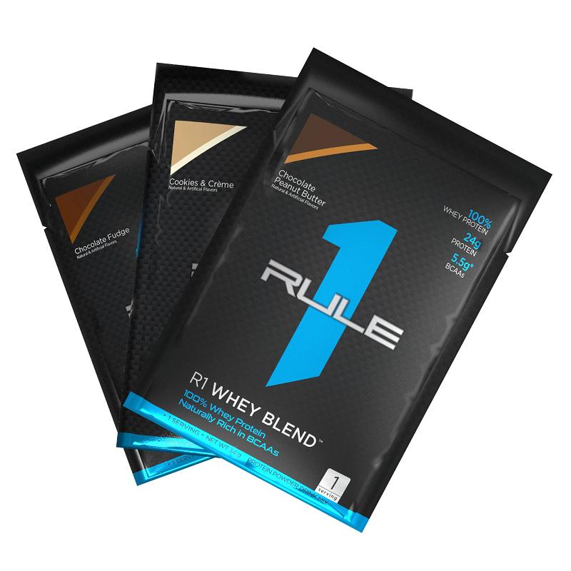 Giá Quá Tốt Để Có Gói Thử Whey Protein Tăng Cơ Rule 1 Whey Blend Sample 34g (mùi Vị Ngẫu Nhiên)